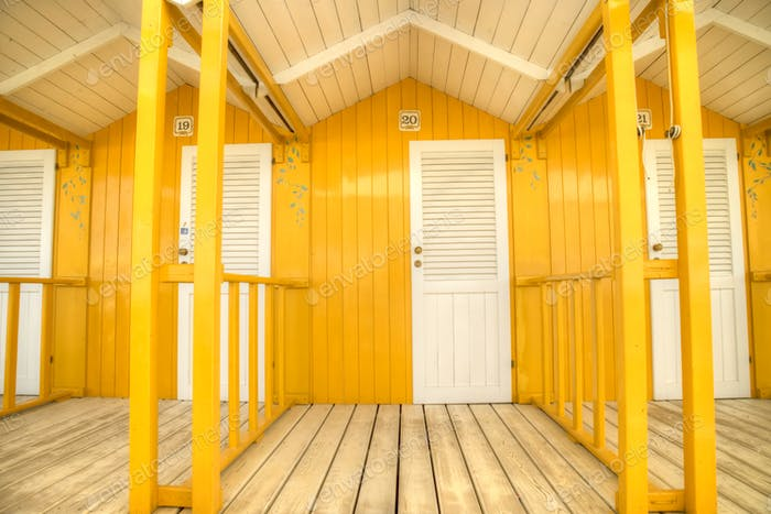 The colorful cabins of Versilia