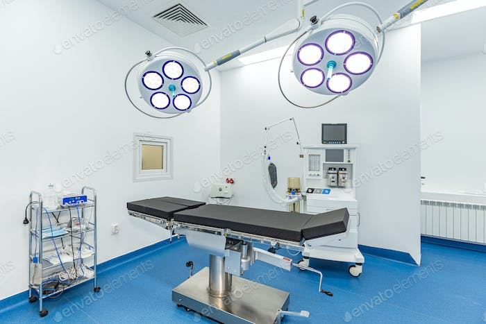 Bright empty operating room