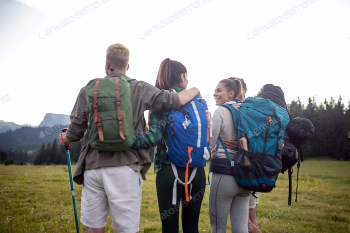 Trek Hiking Destination Experience Backpack Lifestyle Concept