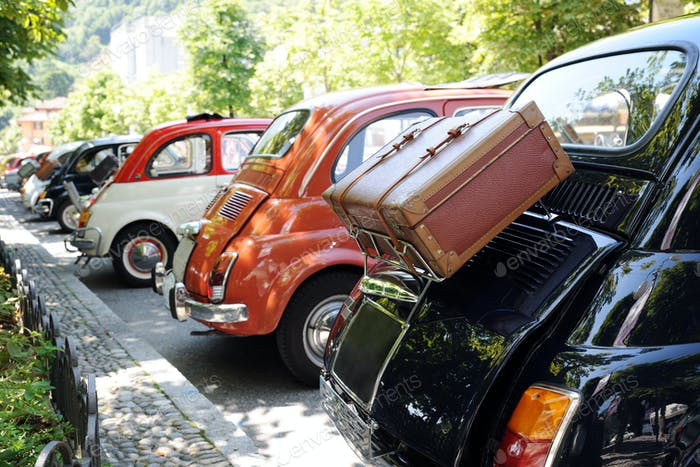 retro cars exhibition