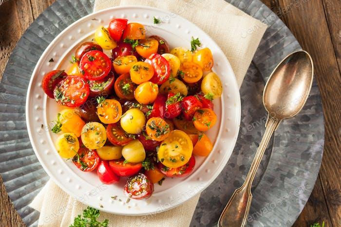 Raw Organic Cherry Tomato Salad