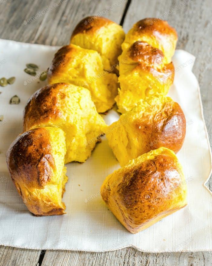 Pumpkin Brioche (french bread)