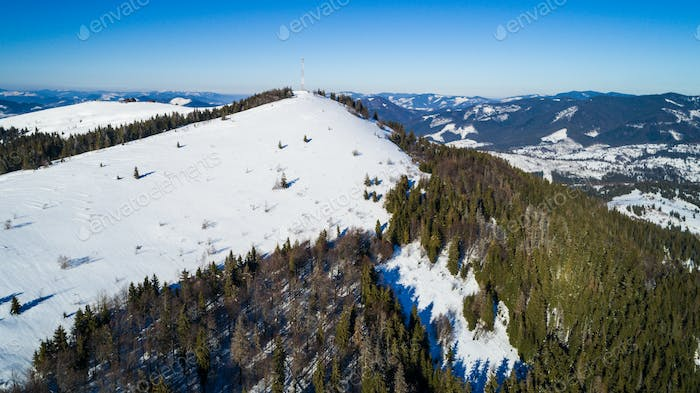 Aerial view of a beautiful picturesque landscape