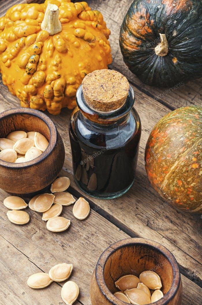 Thumbnail for Bottle of pumpkin oil