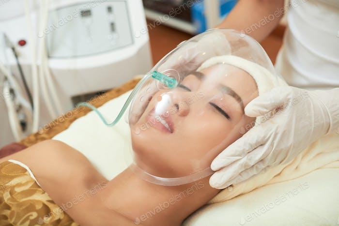 Undergoing Beauty Procedure