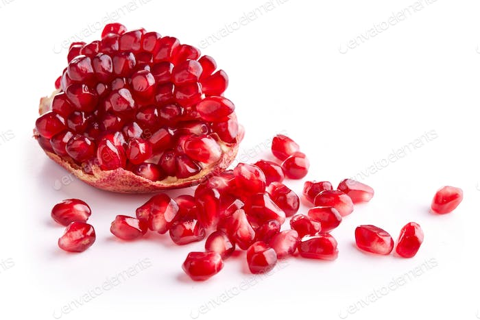 Piece of ripe pomegranate
