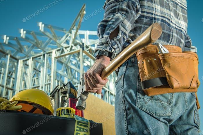 Steel Construction Worker