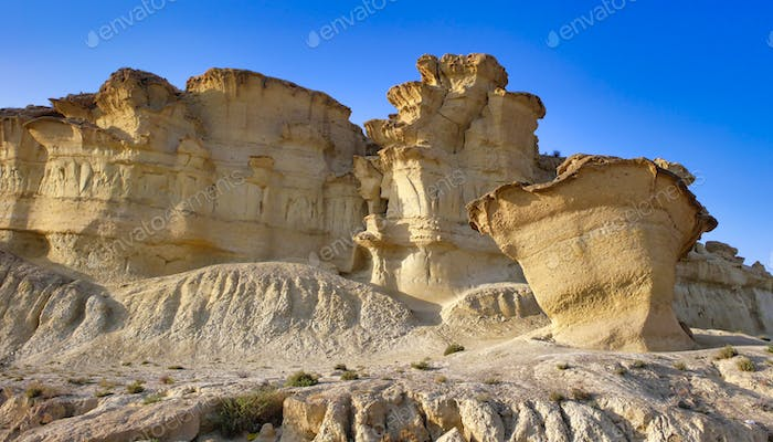 Erosions of Bolnuevo, Natural Heritage of Region of Murcia, Spain