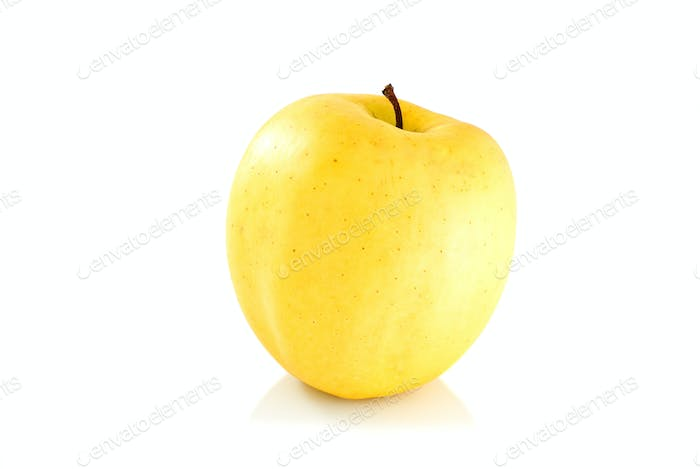 Single yellow apple