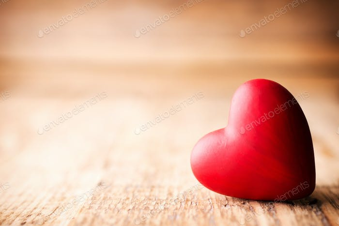Red heart.