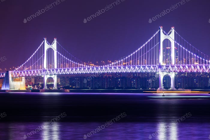 Suspension bridge in Busan