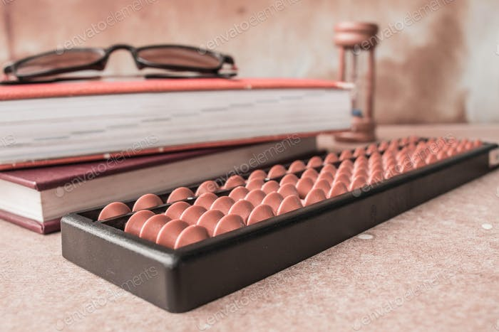 Abacus on wooden