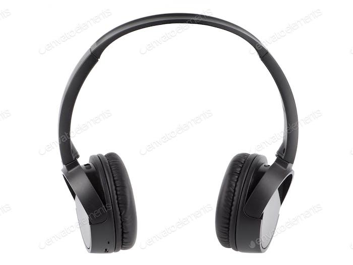 Black wireless headphone