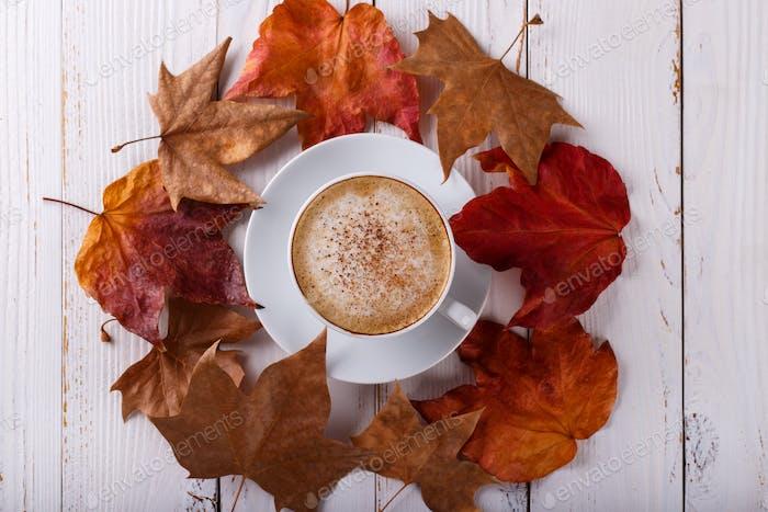 Heißer Kaffee Cappucino