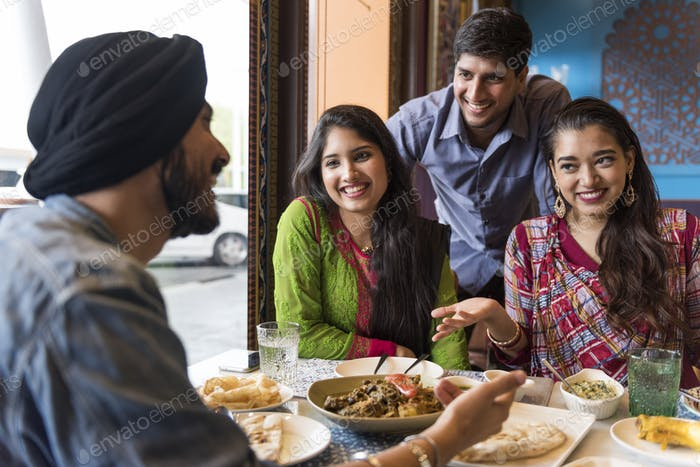 Indian Community Eating Restaurant Dining Concept