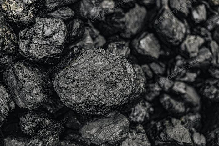 Charcoal close up