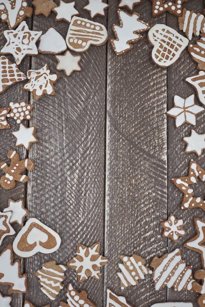 Abundance of gingerbread with buttercream