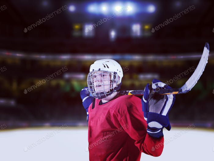 hockey player portrait