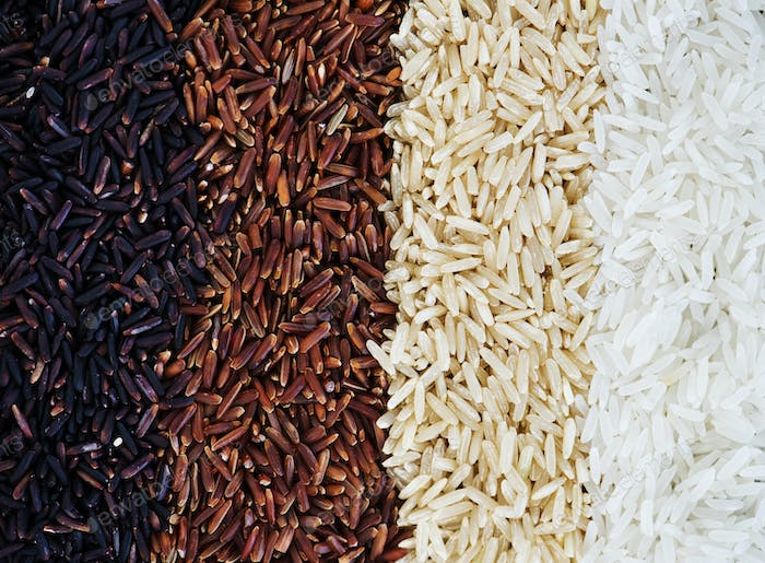 Closeup of mixed rice