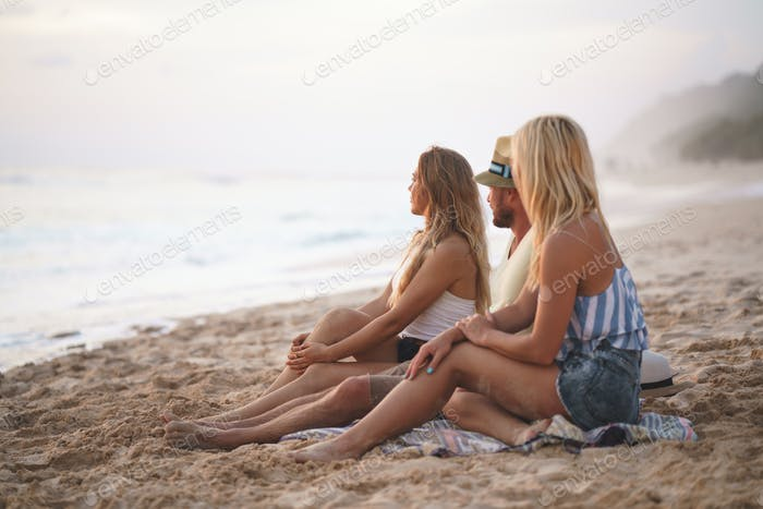 Young friends on vacation