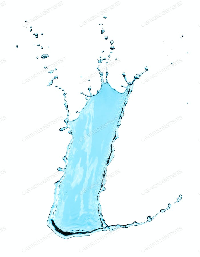 Water splash isolated