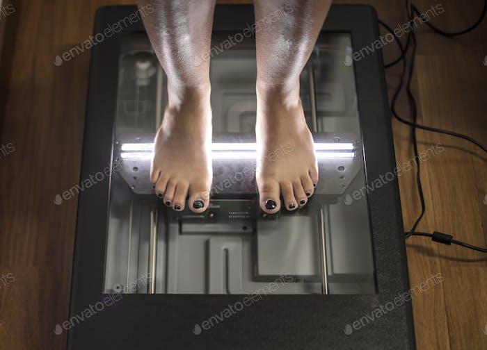 Scannin feet