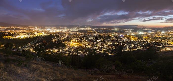 Panorama of Granada