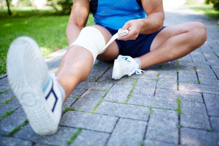 Bandagieren Bein