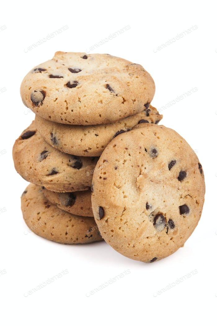 Six Chocolate Chips Cookies