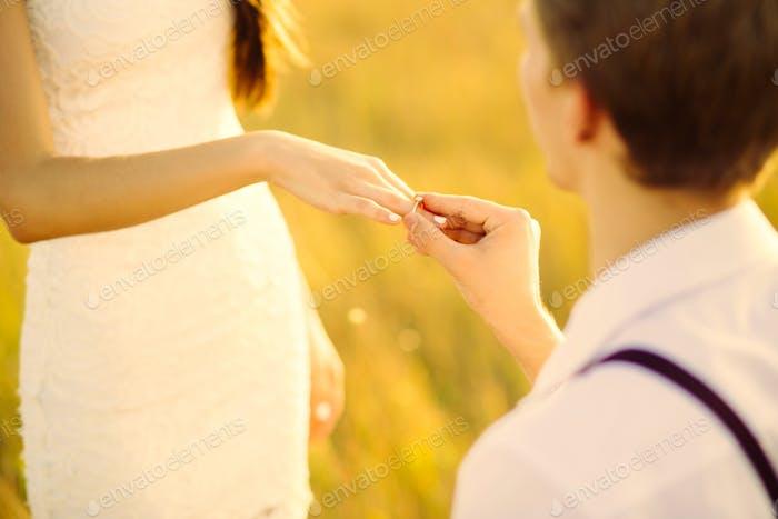 Junges Paar in der Liebe