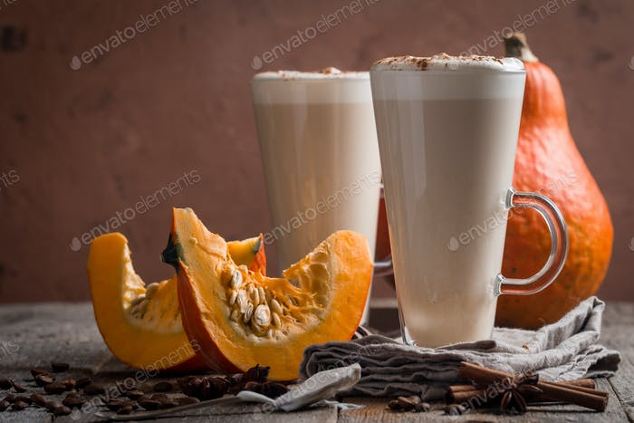 Pumpkin latte with spices