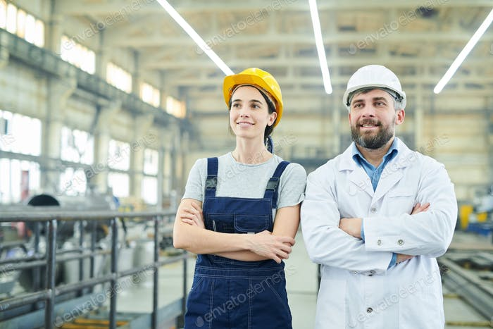 Employees at Modern Factory