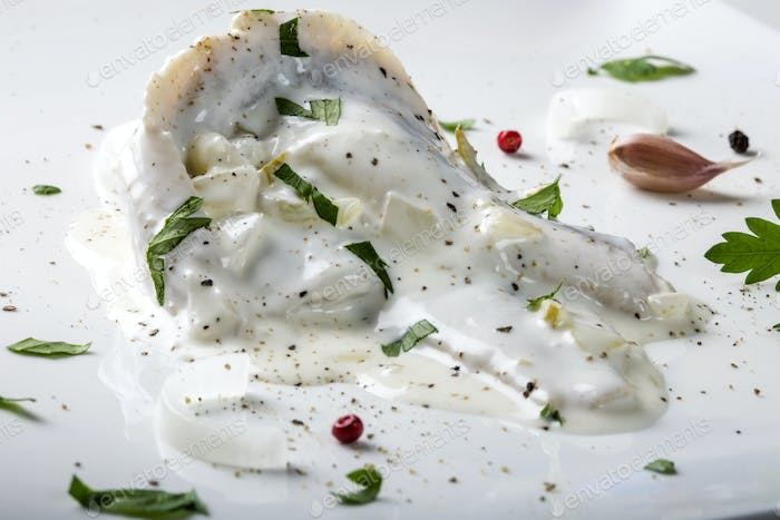 herring fillets in mayonnaise sauce