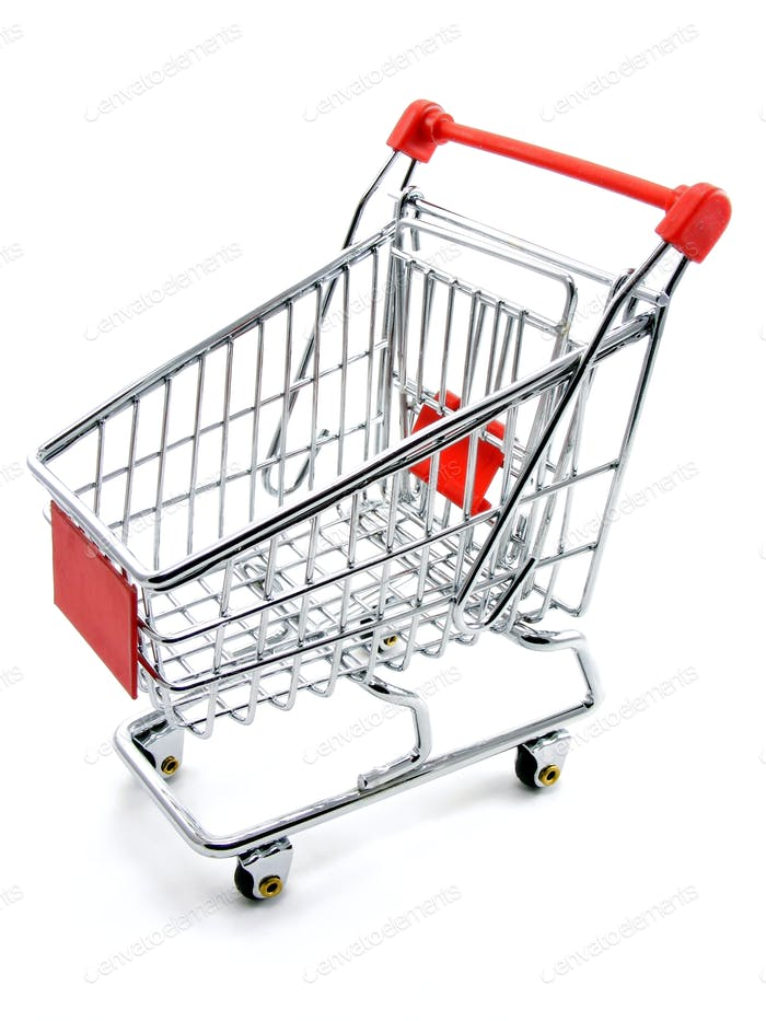 An Empty Shopping Cart Trolley