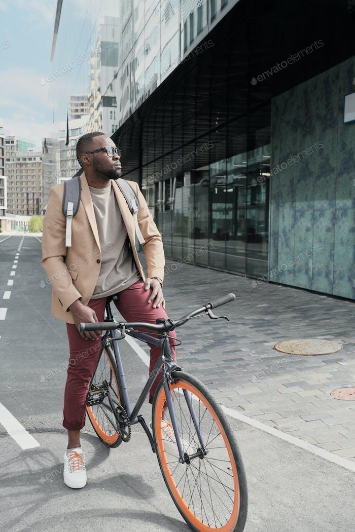 Man riding on a bike