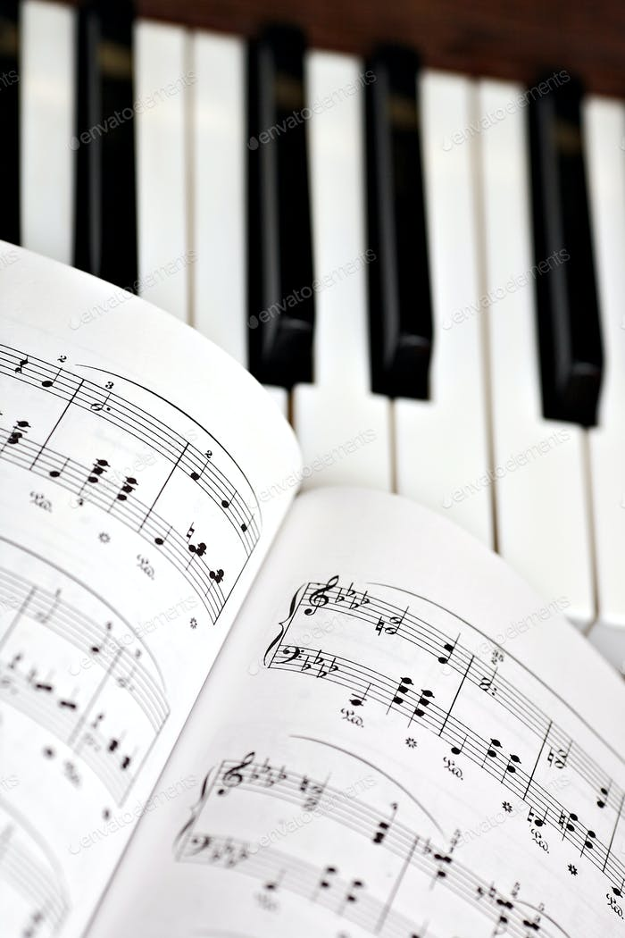 Piano and lyrics book