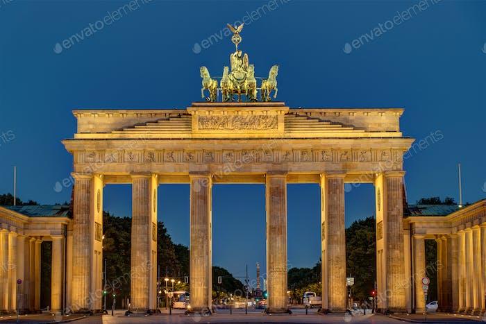 Nachtansicht des Brandenburger Tor