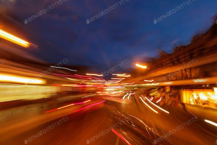 London streets at night