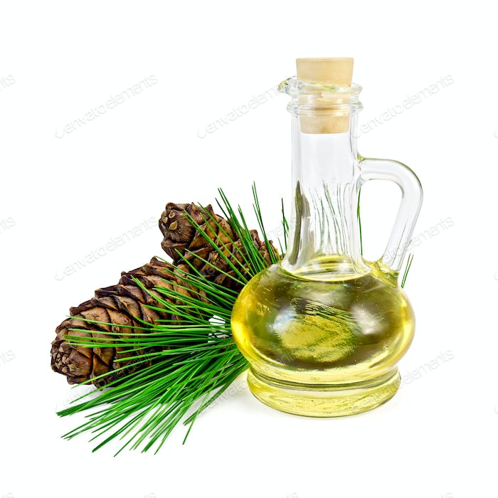 Oil cedar with cones