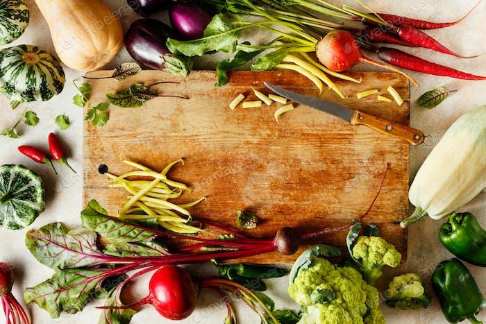 Cooking from various seasonal vegetables
