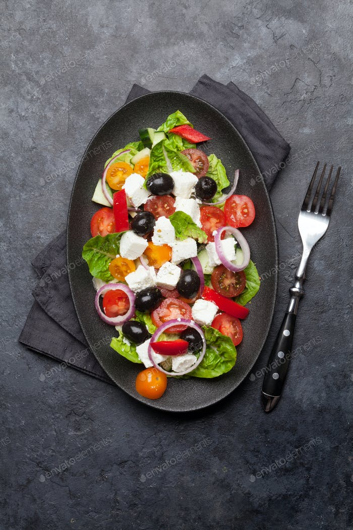 Griechischer Salatplatte