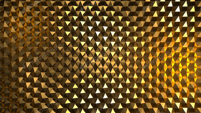Abstract image of a pattern of yellow hexagons