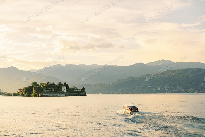 Sunset on Lake Maggiore, Italy