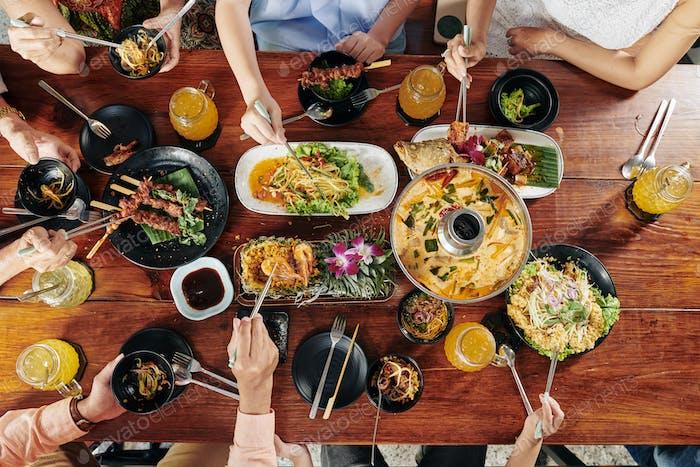 Big family dinner