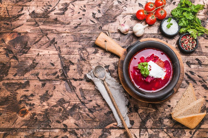 Russische Suppe - roter Borschts