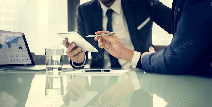 Negocios Corporativa Colegas Cooperantes Concepto de empleo