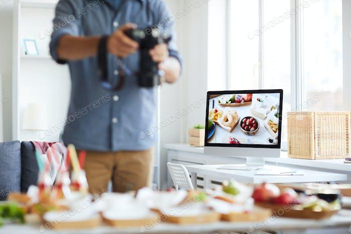 Unrecognizable Food Photographer