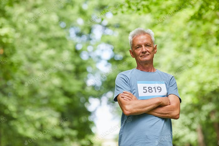 Senior Sportsman With Arms Crossed