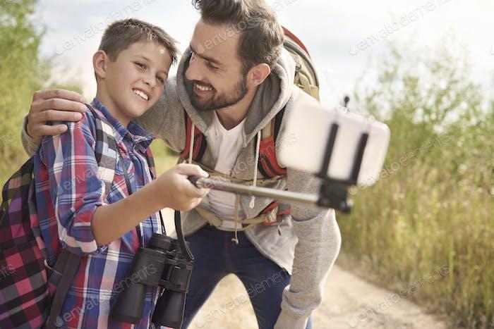 Schnelles Selfie und wir können weiter gehen
