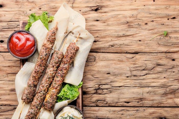 Lamb lula kebab